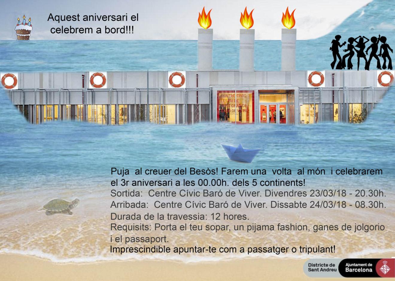 CC Baró de Viver - invitació aniversari 2018